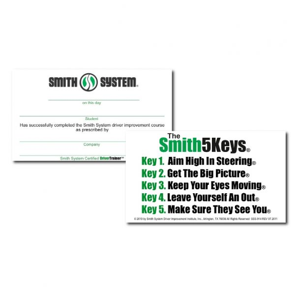 Smith System Certification Cards