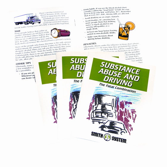 Smith System Substance Abuse And Driving Booklet