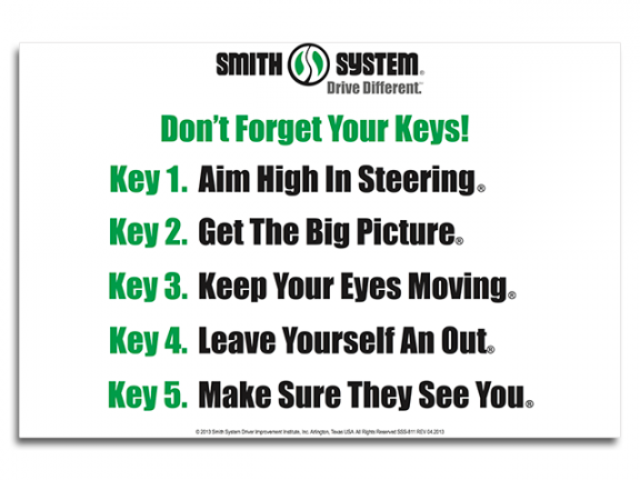 Smith System Don't Forget Your Keys Banner
