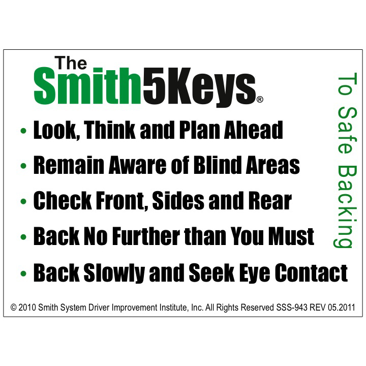 keys to safe driving Topics included in this safety video are: 5 basic keys (aim high in steering, get the big picture, keep your eyes moving, leave yourself an out, and make sure they.