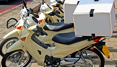 Fleets with two-wheelers driver safety training
